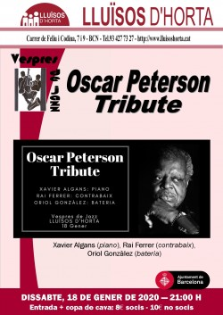 Vespres de Jazz - Oscar Peterson Tribute
